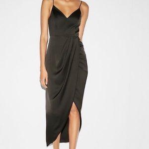 NWT Express Silk Black Maxi Dress